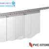 1,75 m x 2,00 m   300 x 3 mm Breite//Höhe Streifenvorhang Weich PVC